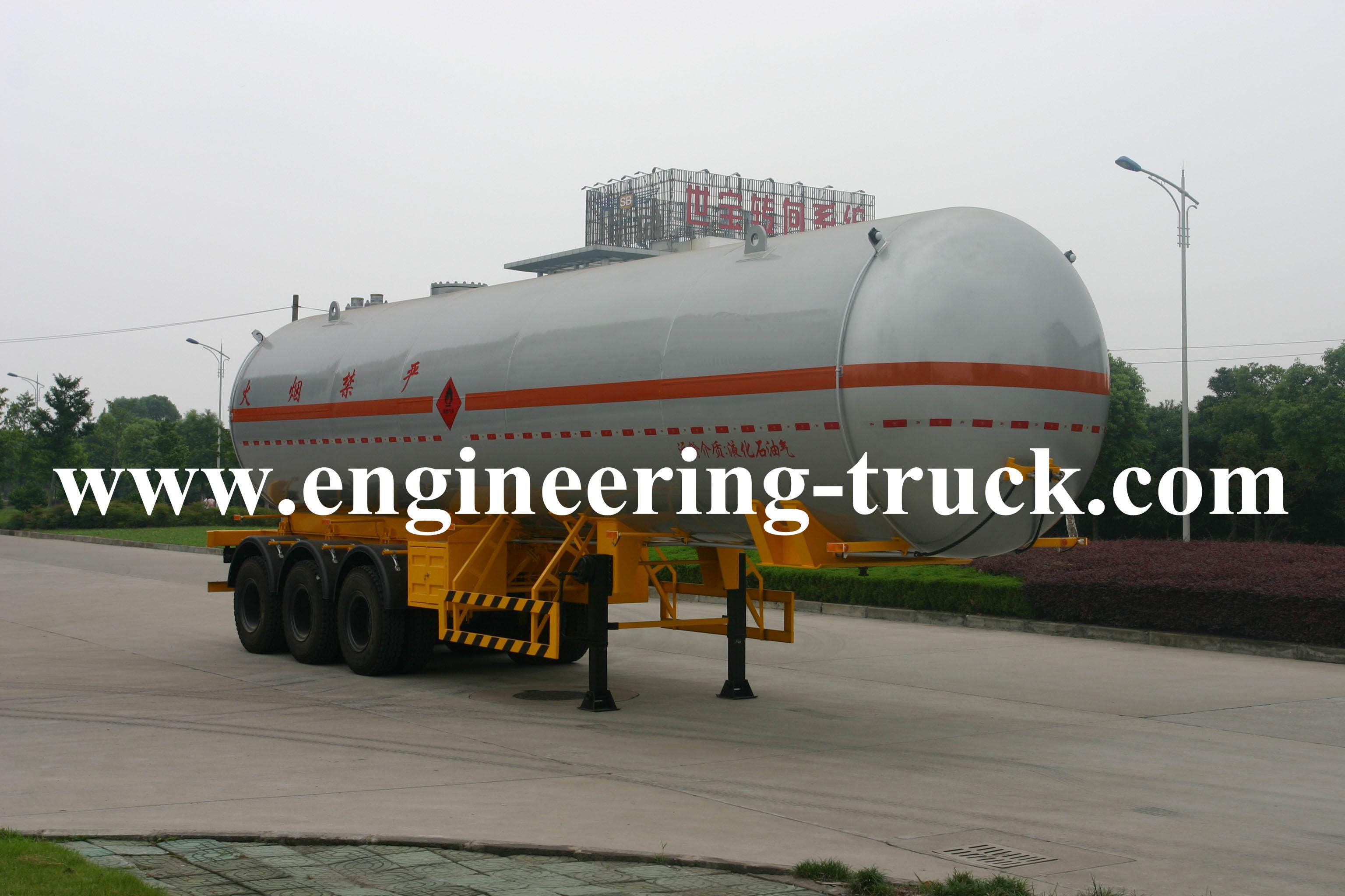 39.2m3 Liquefied Petroleum Gas Tank Semi-trailer for Epoxypropane