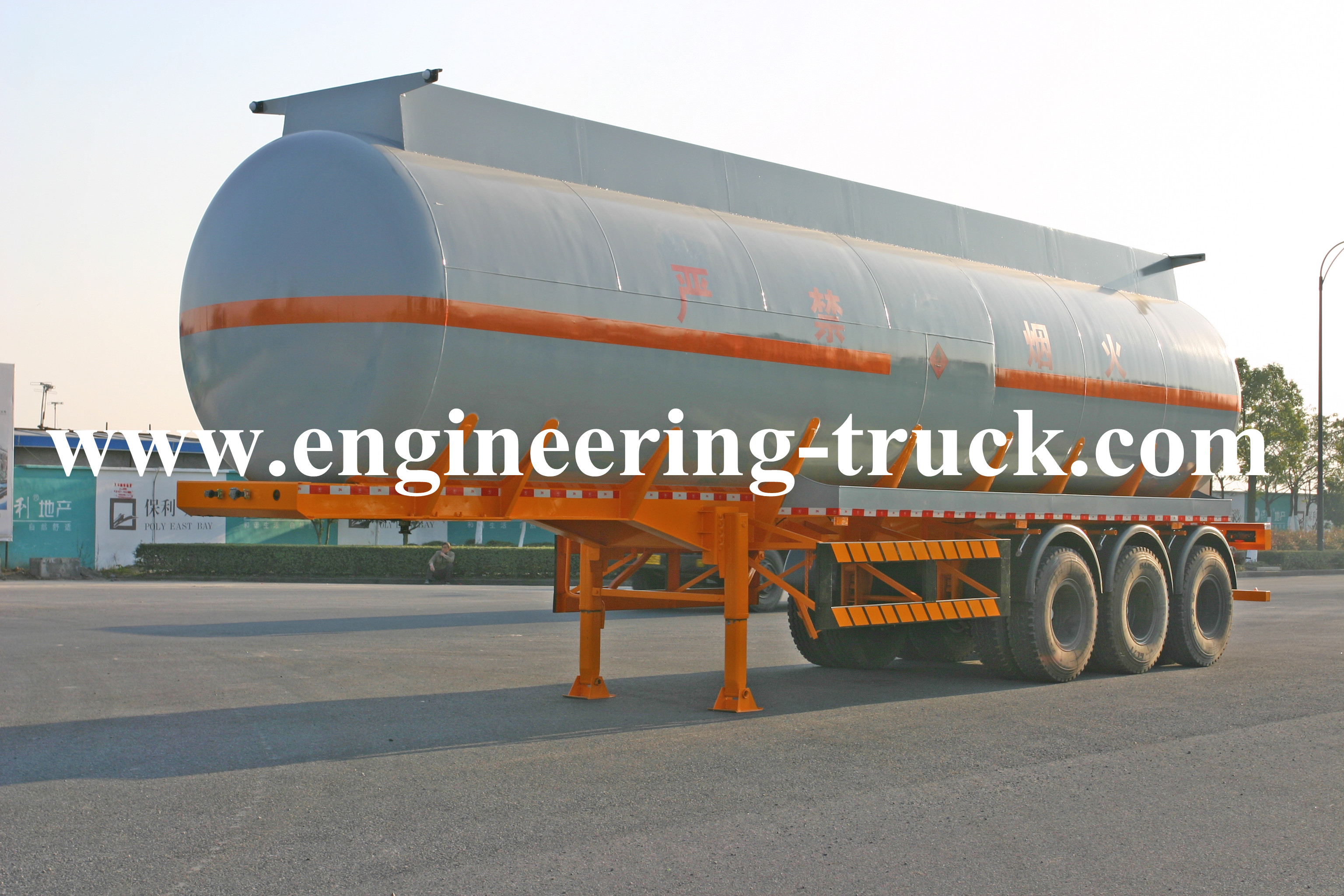 42.5m3 Chemical Liquid Tank Semi-trailer for  Ether/Gas/Diesel