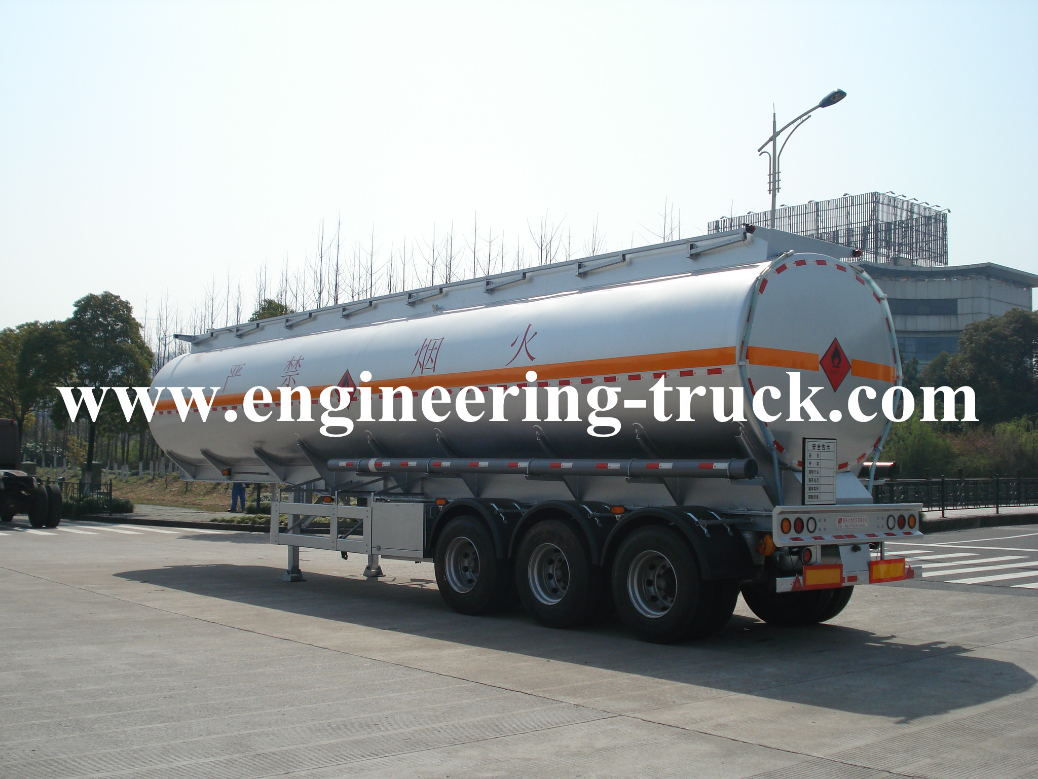 46m3 Aluminum Tank Truck And Semi-trailer for Gasoline and Diesel