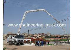 HOWO&ISUZU chassis 39 meter concrete placing boom