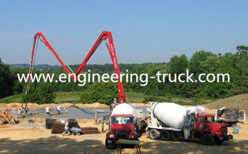 ISUZU chassis 53 meter cement pump